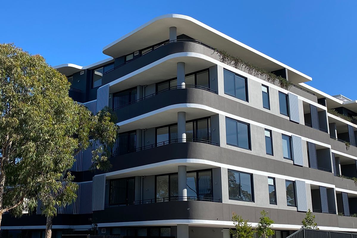 Hebel's PowerPattern® system provides the perfect finish for Caringbah apartments